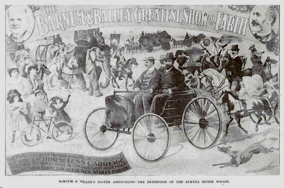 1896 Duryea Barmum & Bailey Poster